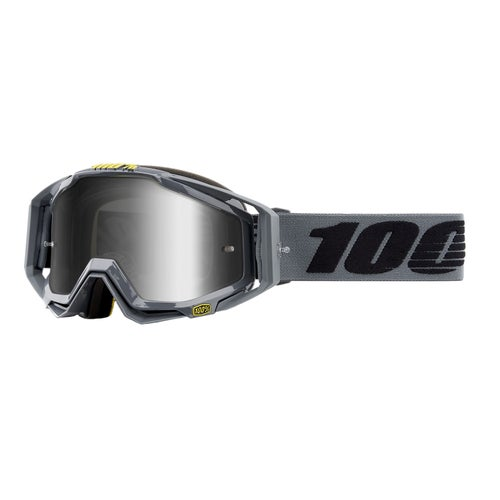 100 Percent Racecraft Abyss , MX-glasögon - Nardo ~ Mirror Silver Lens