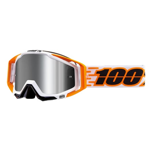 100 Percent Racecraft Plus Motocross Goggles - Illumina ~ Injected Silver Flash Mirror Lens