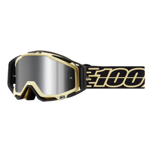 100 Percent Racecraft Plus Motocross Goggles - Jiva ~ Injected Silver Flash Mirror Lens