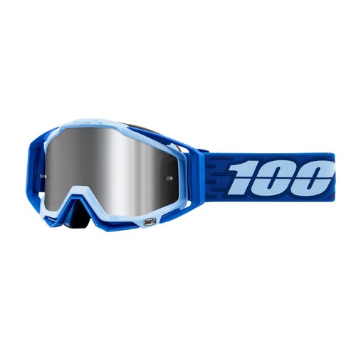 100 Percent Racecraft Plus Motocross Goggles - Rodion ~ Injected Silver Flash Mirror Lens