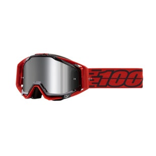 100 Percent Racecraft Plus Motocross Goggles - Toro ~ Injected Silver Flash Mirror Lens