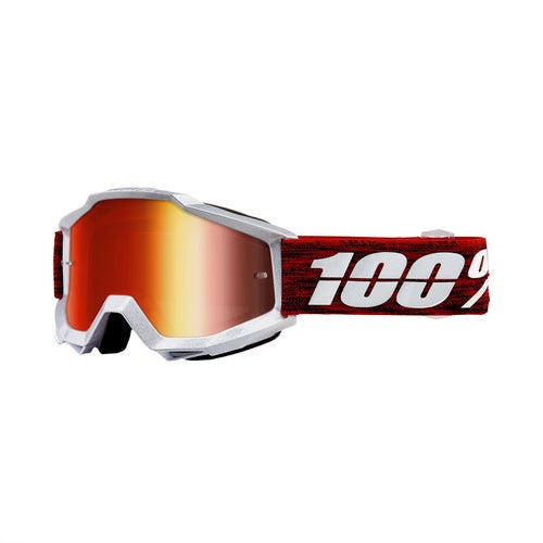 100 Percent Accuri Motocross Goggles - Graham ~ Mirror Red Lens
