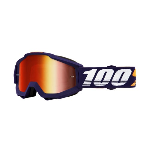 100 Percent Accuri Motocross Goggles - Grib ~ Mirror Red Lens