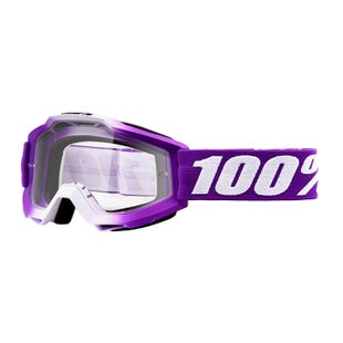 100 Percent Accuri Motocross Goggles - Framboise ~ Clear Lens