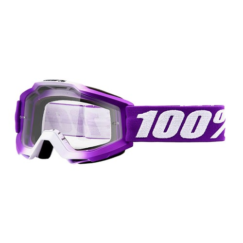 100 Percent Accuri Womens Motocross Goggles - Framboise ~ Clear Lens