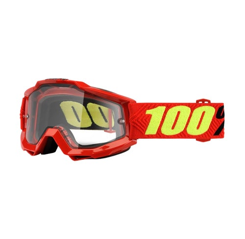 100 Percent Accuri Enduro Motocross Goggles - Saarinen ~ Clear Vented Dual Lens