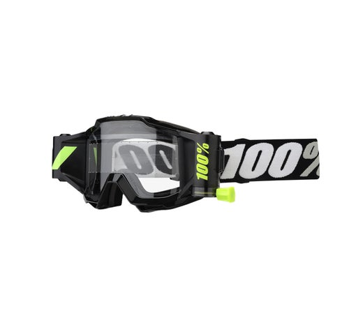100 Percent Accuri Forecast YOUTH Motocross Goggles - Black ~ Clear Lens