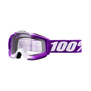 100 Percent Accuri YOUTH Motocross Goggles - Framboise ~ Clear Lens