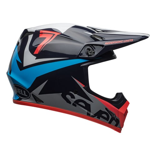 Bell Mx 9 Mips Seven MX Helm - Ignite Navy Coral