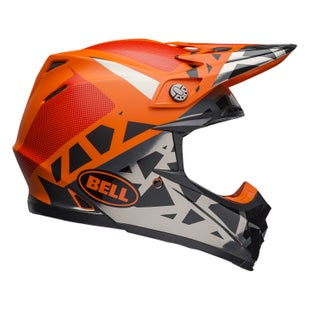 Bell Moto-9 Mips MX Helm - Tremor M G Black Orange Chrome