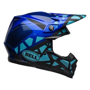 Bell Moto-9 Mips MX Helm - Tremor M G Blue Black