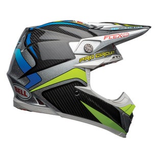 Casco para MX Bell Moto 9 Flex - Pc Replica Black Green