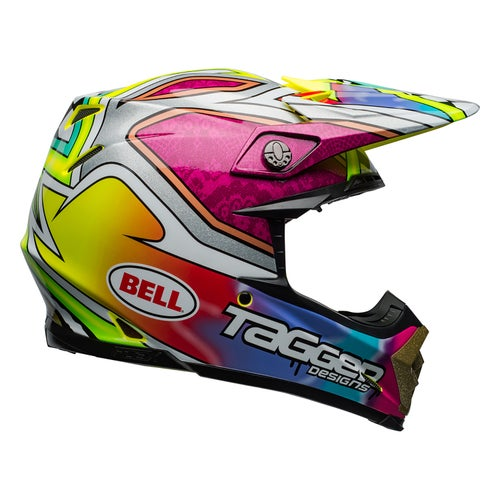 Bell Moto 9 Flex Motocross Helmet - Tagger Mayhem Green Black White