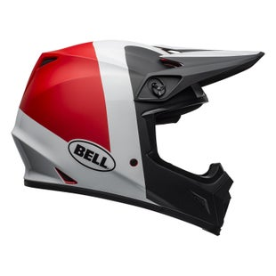 Casco para MX Bell Mx 9 Mips - Presense M G Black White Red