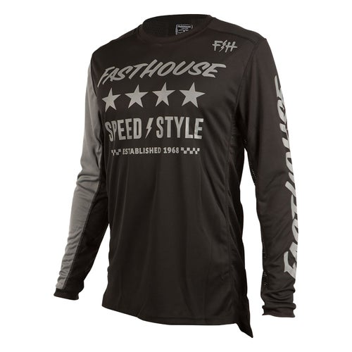 Fasthouse Alpha L1 Motocross Jerseys - Black
