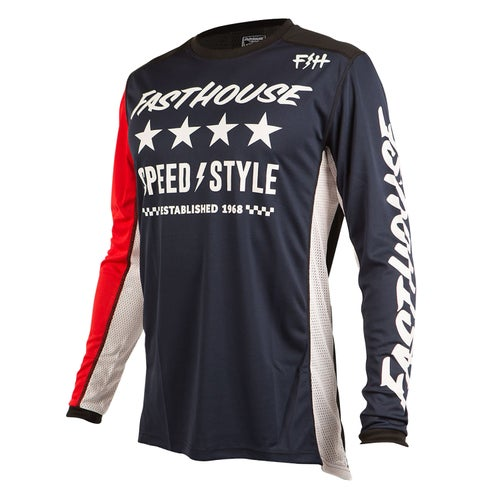 Fasthouse Alpha L1 Motocross Jerseys - Navy