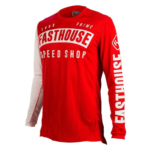 Fasthouse Block L1 Motocross Jerseys - Red