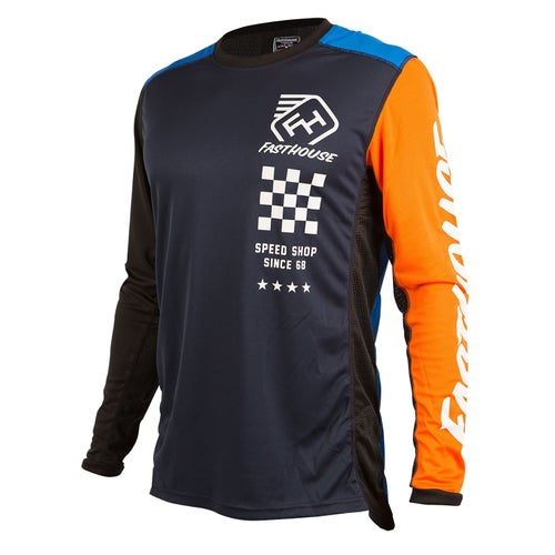 Fasthouse Icon L1 Motocross Jerseys - Blue/orange