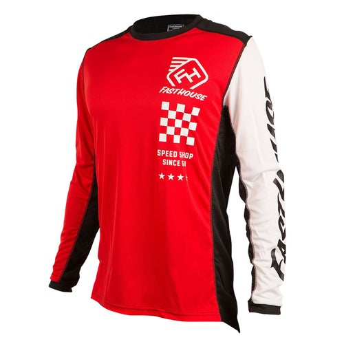 Fasthouse Icon L1 Motocross Jerseys - Red