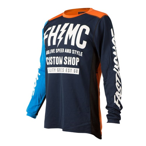 Fasthouse Long Live Mc Motocross Jerseys - Blue/orange