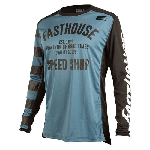Fasthouse Speed Shop L1 Motocross Jerseys - Slate Blue