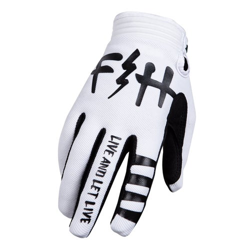 Fasthouse Speed Style Let Live Motocross Gloves - White