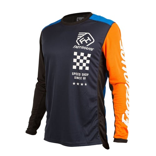 Fasthouse Icon L1 Youth Motocross Jerseys - Blue/orange