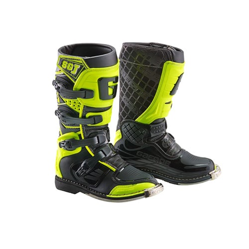 Gaerne Boots SGJ YOUTH Motocross Boots - White Yellow Grey