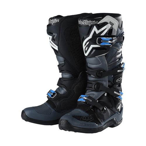 Alpinestars Troy Lee Designs Tech 7 Motocross Boots - Grey Black