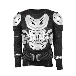 Leatt 5.5 Body Protection MX Motocross and Enduro Jacket Torsobescherming - White