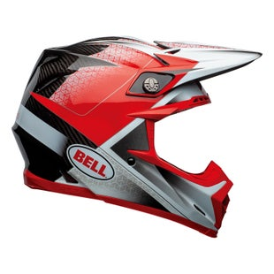 Casco para MX Bell Moto 9 Flex - Hound M G Red White Black