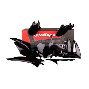 Plastic Kit Polisport Plastics Full Plastics Kit Set Honda CRF110 13 - 18 Black