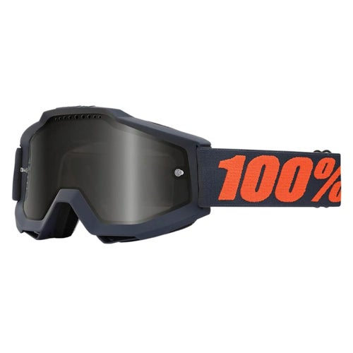 100 Percent Accuri Motocross Goggles - Gunmetal ~ Grey Smoke Lens
