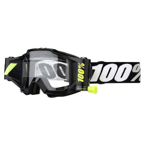 100 Percent Accuri Forecast System Motocross Goggles - Tornado ~ Clear Lens