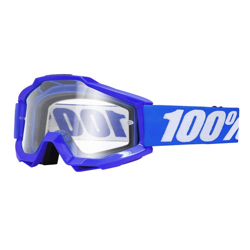 100 Percent Accuri Motocross Goggles - Reflex Blue ~ Clear Lens