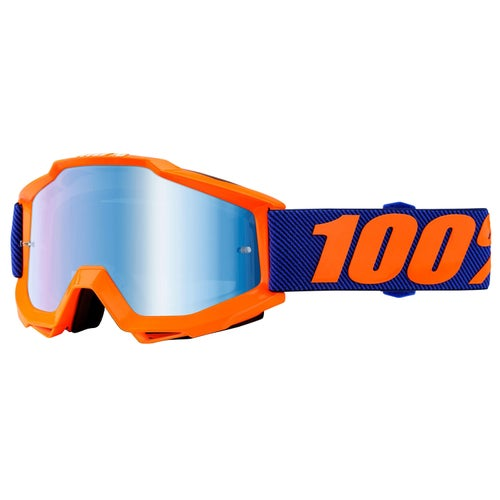 Gogle MX 100 Percent Accuri - Origami ~ Mirror Blue Lens
