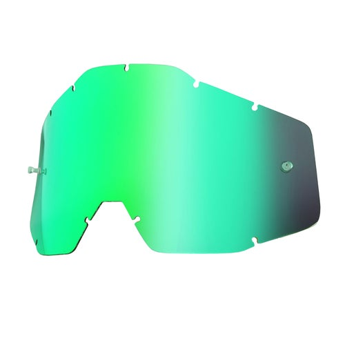 100 Percent Accuri Racecraft Strata MX-Schutzbrillenglas - Mirror Green Anti-fog W/posts