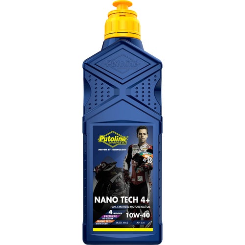 Putoline Nano Tech Or 4+ 10w/40 1 Ltr Engine Oil - Clear