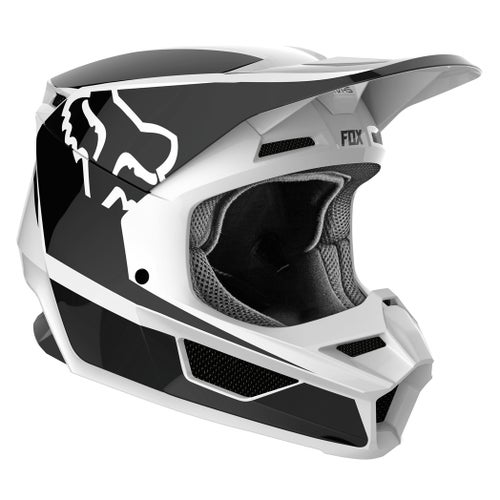 Fox Racing V1 Przm Motocross Helmet - Black White