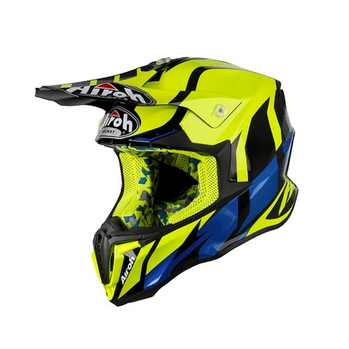 Airoh Twist Motocross Helmet - Great Yellow Gloss