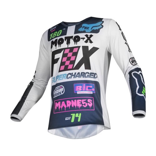 Fox Racing 180 Czar Motocross Jerseys - Lt Gry