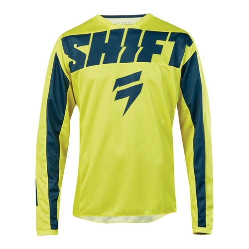 Shift Whit3 Label York Enduro and MX Jersey - Yellow