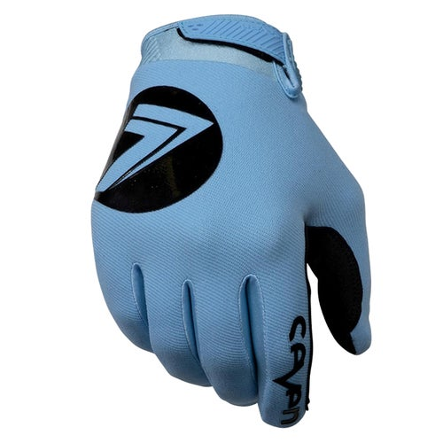 Seven 19.1 Annex 7 Dot Youth Youth Motocross Gloves - Blue
