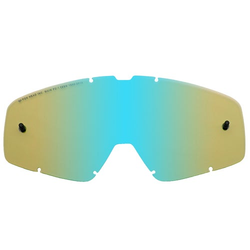 Fox Racing Main Chrome Spark Motocross Goggle Lense - Blue Spark