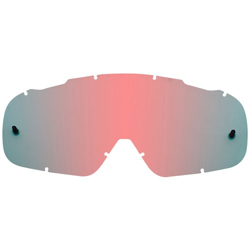 Fox Racing Air Space Chrome Spark Motocross Goggle Lense - Red Spark Clear