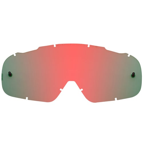 Fox Racing Air Space Chrome Spark Motocross Goggle Lense - Red Spark