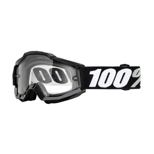100 Percent Accuri Saarinen Enduro MX Brillen - Tornado ~ Clear Dual Lens