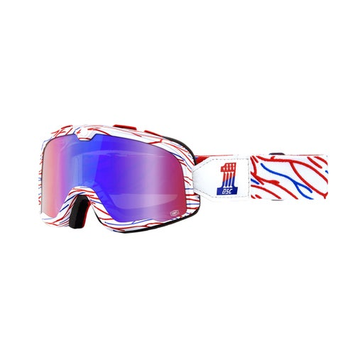 100 Percent Barstow Motocross Goggles - Death Spray Customs ~ Red Blue Mirror Lens