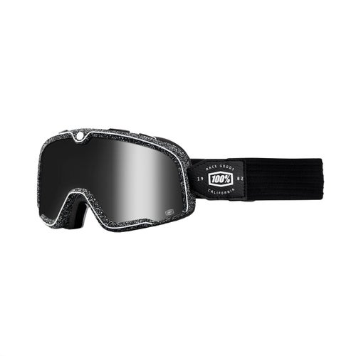 100 Percent Barstow Motocross Goggles - Noise ~ Silver Mirror Lens