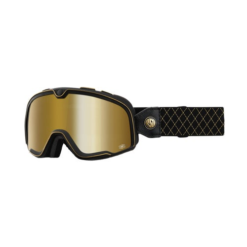 100 Percent Barstow Motocross Goggles - Roland Sands ~ True Gold Mirror Lens